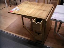 IKEA,無垢素材,家具,ゲートレッグテーブル,ドロップリーフテーブル,NORDEN
